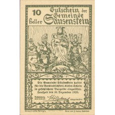 Säusenstein N.Ö. Gemeinde, 1x10h, 1x20h, 1x50h, Set of 3 Notes, FS 950c