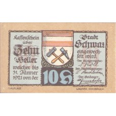 Schwaz in Tirol Stadtgemeinde, 1x10h, 1x30h, 1x50h, 1x60h, 1x75h, 1x90h, Set of 6 Notes, FS 983a