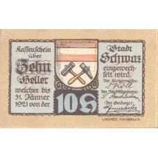 Schwaz in Tirol Stadtgemeinde, 1x10h, 1x30h, 1x50h, 1x60h, 1x75h, 1x90h, Set of 6 Notes, FS 983c