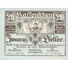 Traiskirchen N.Ö. Marktgemeinde, 1x20h, 1x50h, Set of 2 Notes, FS 1077b