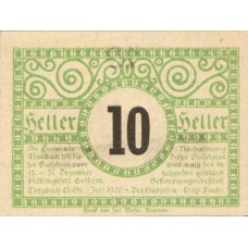 Treubach O.Ö. Gemeinde, 1x10h, 1x20h, 1x50h, Set of 3 Notes, FS 1082