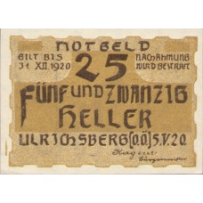 Ulrichsberg O.Ö. Gemeinde, 1x10h, 1x25h, 1x50h, 1x75h, Set of 4 Notes, FS 1091a