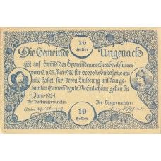 Ungenach O.Ö. Gemeinde, 1x10h, 1x20h, 1x50h, Set of 3 Notes, FS 1092b