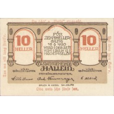 Hallein Sbg. Stadtgemeinde, 1x10h, 1x20h, 1x50h, Set of 3 Notes, FS 344IIe