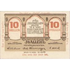 Hallein Sbg. Stadtgemeinde, 1x10h, 1x20h, 1x50h, Set of 3 Notes, FS 344IIe