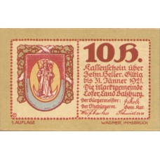 Lofer Sbg. Marktgemeinde, 1x10h, 1x20h, 1x50h, 1x60h, 1x75h, 1x99h, Set of 6 Notes, FS 560a