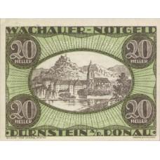 Wachauer Notgeld Dürnstein N.Ö. Gemeinde, 1x10h, 1x20h, 1x50h, Set of 3 Notes, FS 1122.3IIc