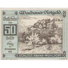 Wachauer Notgeld Schloß Ranna-Mühldorf Gemeinde, 1x10h, 1x20h, 1x50h, Set of 3 Notes, FS 1122.7IIa