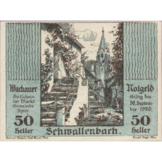 Wachauer Notgeld Schwallenbach N.Ö. Gemeinde, 1x10h, 1x20h, 1x50h, Set of 3 Notes, FS 1122.8IIc
