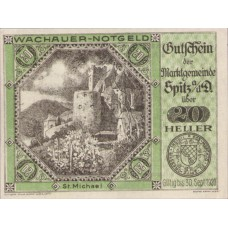 Wachauer Notgeld St. Michael N.Ö. Gemeinde, 1x10h, 1x20h, 1x50h, Set of 3 Notes, FS 1122.9IIc