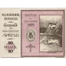 Wachauer Notgeld Schönbühel N.Ö. Gemeinde, 1x10h, 1x20h, 1x50h, Set of 3 Notes, FS 1122.10IIc