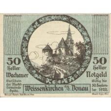 Wachauer Notgeld Weißenkirchen Gemeinde, 1x10h, 1x20h, 1x50h, Set of 3 Notes, FS 1122.13IIc