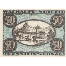 Wachauer Notgeld Dürnstein N.Ö. Gemeinde, 1x10h, 1x20h, 1x50h, Set of 3 Notes, FS 1122.3IIa