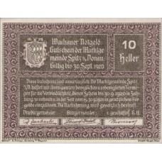 Wachauer Notgeld - Spitz - Kirche N.Ö. Gemeinde, 1x10h, 1x20h, 1x50h, Set of 3 Notes, FS 1122.12IIc