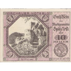 Wachauer Notgeld St. Michael N.Ö. Gemeinde, 1x10h, 1x20h, 1x50h, Set of 3 Notes, FS 1122.9IIa
