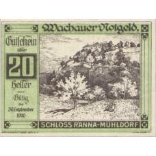 Wachauer Notgeld Schloß Ranna-Mühldorf Gemeinde, 1x10h, 1x20h, 1x50h, Set of 3 Notes, FS 1122.7IIc