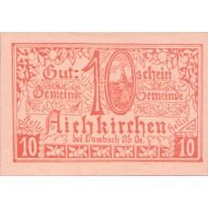 Aichkirchen O.Ö. Gemeinde, 1x10h, 1x20h, 1x50h, Set of 3 Notes, FS 11