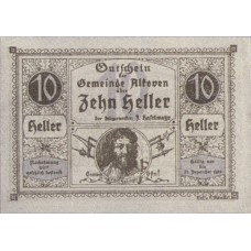 Alkoven O.Ö. Gemeinde, 1x10h, 1x20h, 1x50h, Set of 3 Notes, FS 18IIa