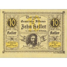 Alkoven O.Ö. Gemeinde, 1x10h, 1x20h, 1x50h, Set of 3 Notes, FS 18IIb