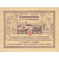 Bischofstetten N.Ö. Gemeinde, 1x10h, 1x20h, 1x50h, Set of 3 Notes, FS 92a