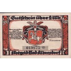 Albersdorf Bad Gemeinde, 1x50pf, 1x1mk, 1x2mk, Set of 3 Notes, 9.1