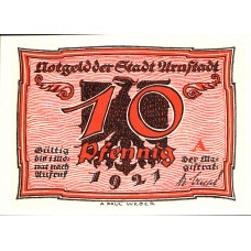 Arnstadt Stadt, 6x10pf, Set of 6 Notes, 43.1
