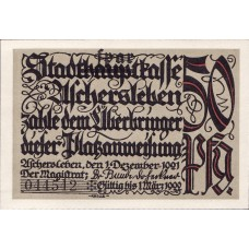 Aschersleben Stadt, 2x25pf, 2x50pf, 1x75pf, Set of 5 Notes, 50.3