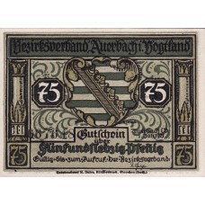 Auerbach Amtshauptmannschaft, 3x50pf 3x75pf, Set of 6 Notes, 53.1a/53.2