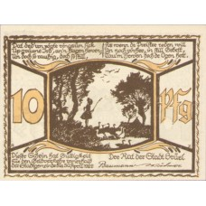 Brüel Stadt, Reutergeld, 1x10pf, 1x25pf, 1x50pf, Set of 3 Notes, 191.1