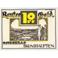 Brunshaupten Gemeinde, Reutergeld, 1x10pf, 1x25pf, 1x50pf, Set of 3 Notes, 195.1