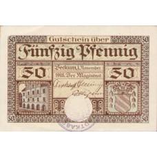 Beckum Stadt, 50 Pfennig, B14.1a