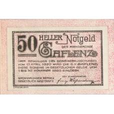 Gaflenz O.Ö. Marktgemeinde, 1x10h, 1x20h, 1x50h, Set of 3 Notes, FS 216