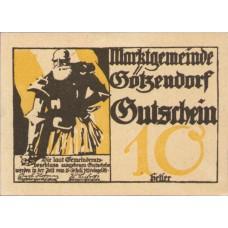 Götzendorf N.Ö. Marktgemeinde, 1x10h, 1x20h, 1x50h, Set of 3 Notes, FS 246IIc