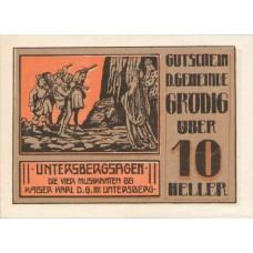 Grödig sbg. Gemeinde, 1x10h, 1x30h, 1x40h, 1x60h, Set of 4 Notes, FS 290a