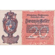 Liechtenstein, Principality of Liechtenstein, 20 Heller, P2 UNC