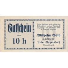 Unter-Ratzersdorf N.Ö. Prv. Wilhem Gelb Kaufmann, 10 Heller, FS 1097a