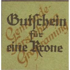 Großraming O.Ö. Gemeinde, 1 Krone, FS 296IIIc