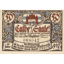 Calbe a.d. Saale Stadt, 6x50pf, Set of 6 Notes, 213.4