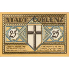 Coblenz Stadt, 1x25pf, 3x50pf, Set of 4 Notes, 233.1a