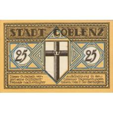 Coblenz Stadt, 1x25pf, 3x50pf, Set of 4 Notes, 233.1a