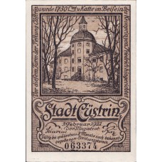 Cüstrin Stadt, 1x50pf, Set of 1 Notes, 248.1a
