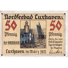 Cuxhaven Stadt, 1x50pf, Set of 1 Notes, 249.2