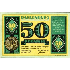 Dahlenburg Magistrat, 1x25pf, 1x50pf, 1x75pf, Set of 3 Notes, 251.1