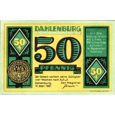 Dahlenburg Magistrat, 1x25pf, 1x50pf, 1x75pf, Set of 3 Notes, 251.1