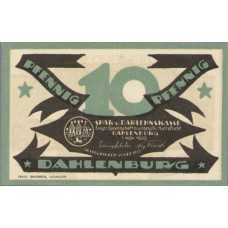 Dahlenburg Spar und Dahlehnskasse E.G.m.u.H., 1x10pf, 1x25pf, 1x50pf, Set of 3 Notes, 252.1