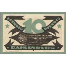 Dahlenburg Spar und Dahlehnskasse E.G.m.u.H., 1x10pf, 1x25pf, 1x50pf, Set of 3 Notes, 252.1