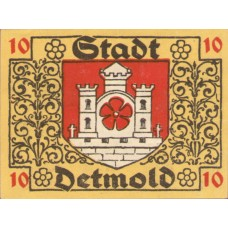 Detmold Stadt, 1x10pf, 1x50pf, Set of 2 Notes, 268.2