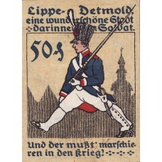 Detmold Stadt, 1x50pf, Set of 1 Notes, 268.5
