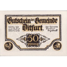 Ditfurt Gemeinde, 6x50pf, Set of 6 Notes, 275.2