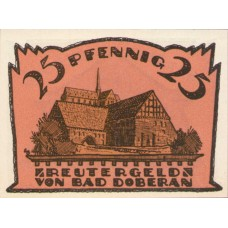 Doberan, Bad Stadt, 1x10pf, 1x25pf, 1x50pf, Set of 3 Notes, 276.3